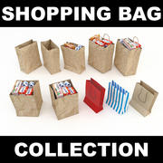 Shopping Bag Collection 3d model