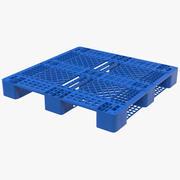 Plastic Pallet Blue 3d model