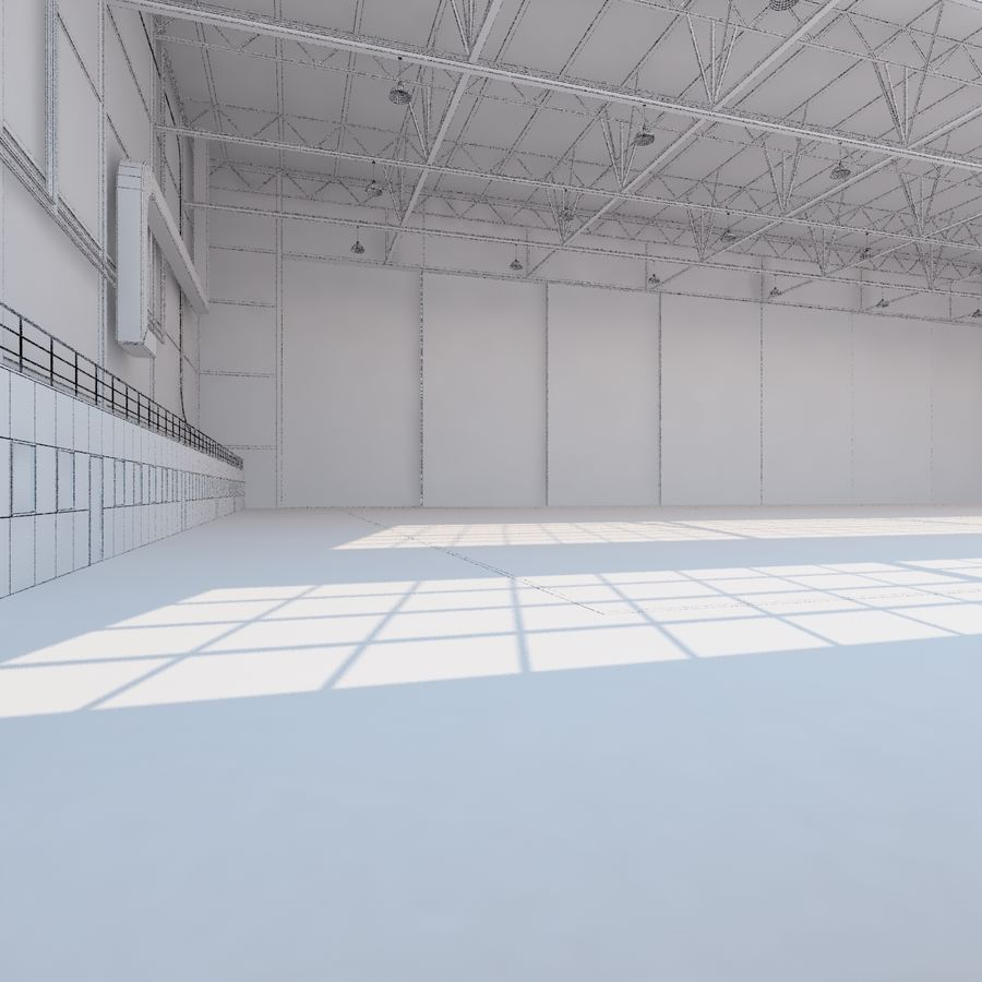 Aircraft hangar royalty-free 3d model - Preview no. 26