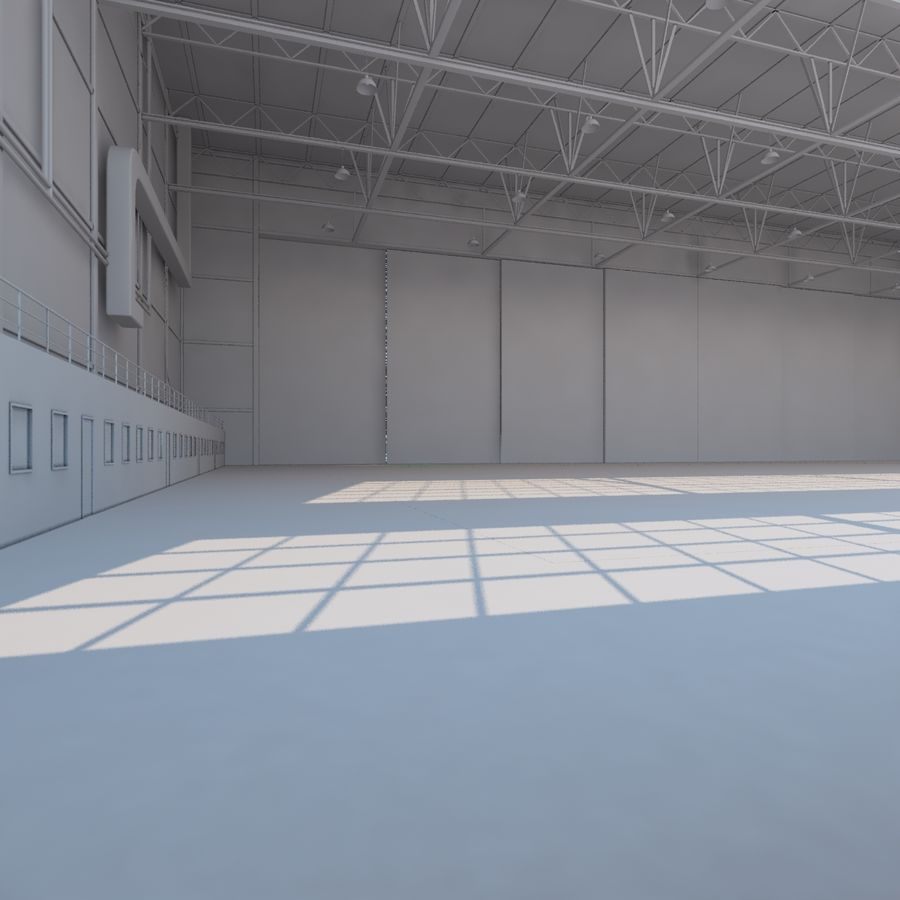 Aircraft hangar royalty-free 3d model - Preview no. 16