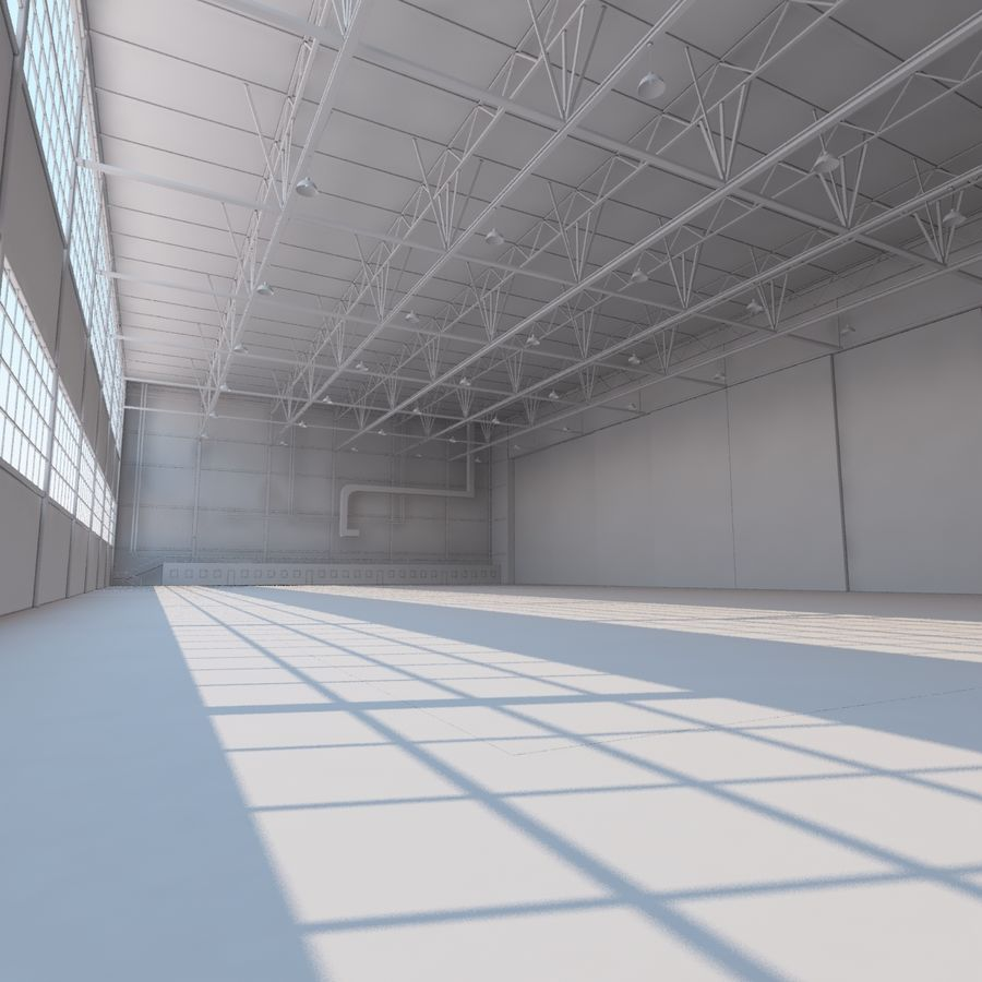 Aircraft hangar royalty-free 3d model - Preview no. 20
