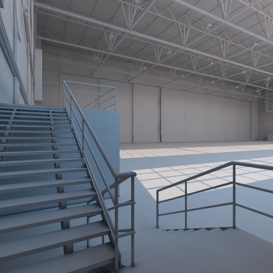 Aircraft hangar royalty-free 3d model - Preview no. 15