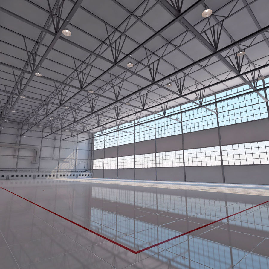 Aircraft hangar royalty-free 3d model - Preview no. 7