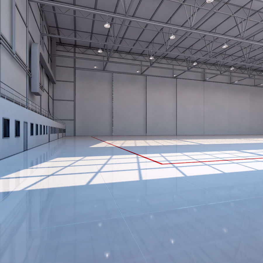 Aircraft hangar royalty-free 3d model - Preview no. 6