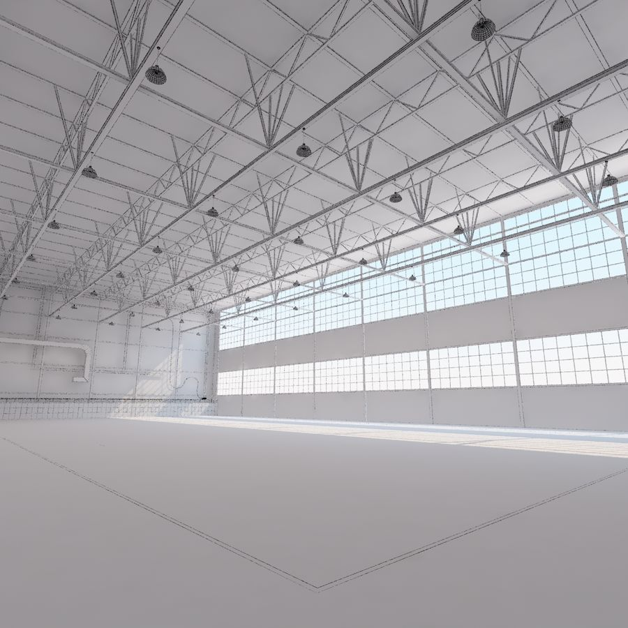Aircraft hangar royalty-free 3d model - Preview no. 27