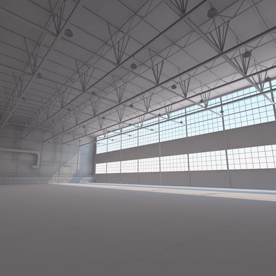 Aircraft hangar royalty-free 3d model - Preview no. 17