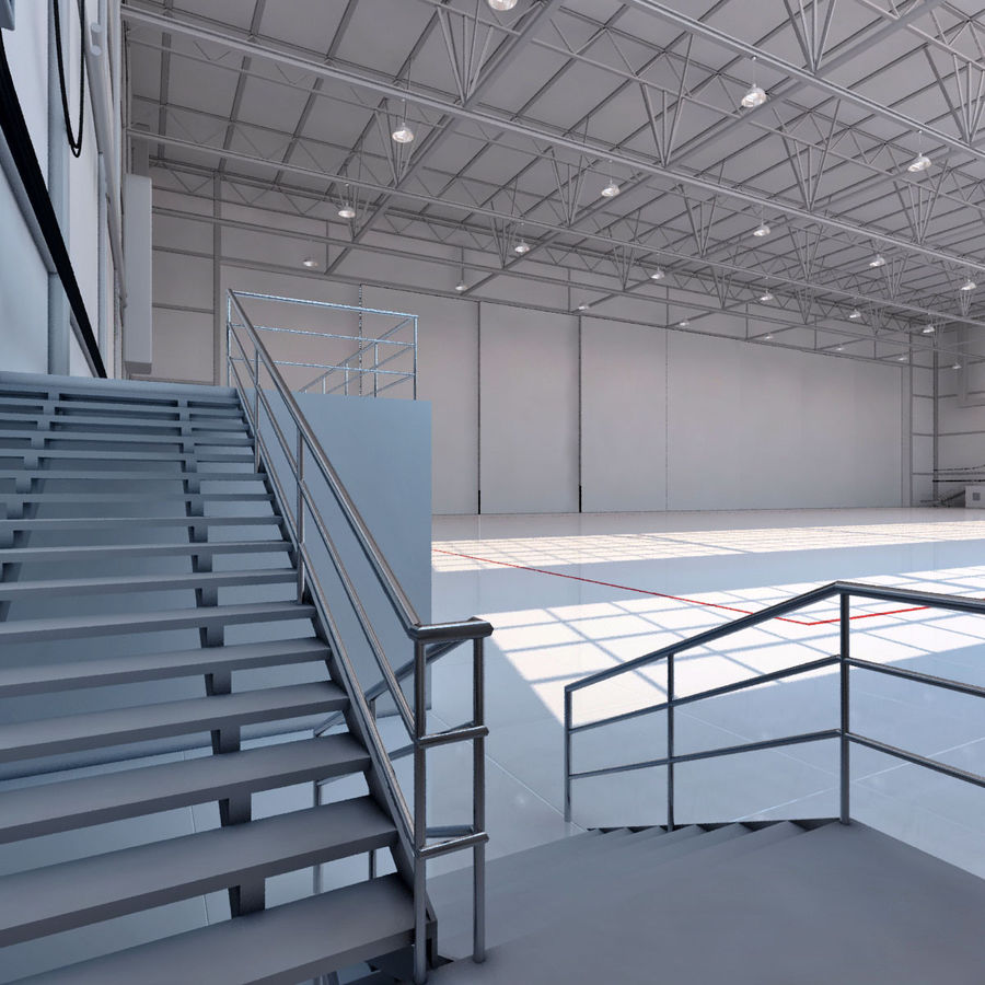 Aircraft hangar royalty-free 3d model - Preview no. 5