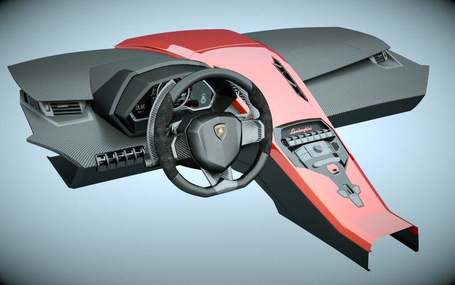 Lamborghini Dashboard royalty-free 3d model - Preview no. 1