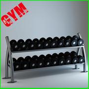Rack per manubri Twin Tier 3d model