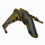科幻星舰1-未来派科幻卡通太空飞船 3d model