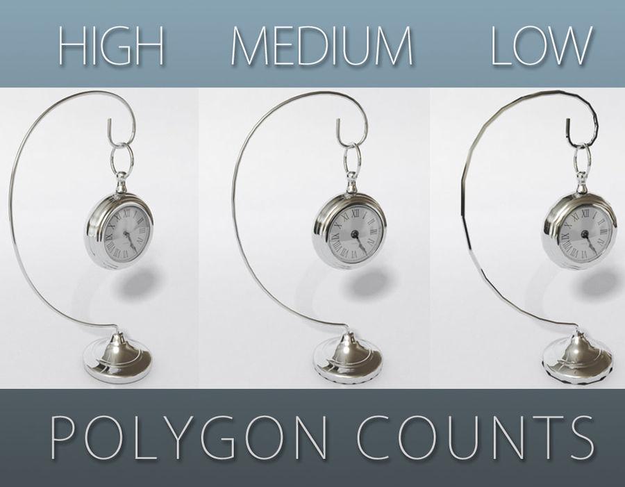 Horloge de table royalty-free 3d model - Preview no. 2
