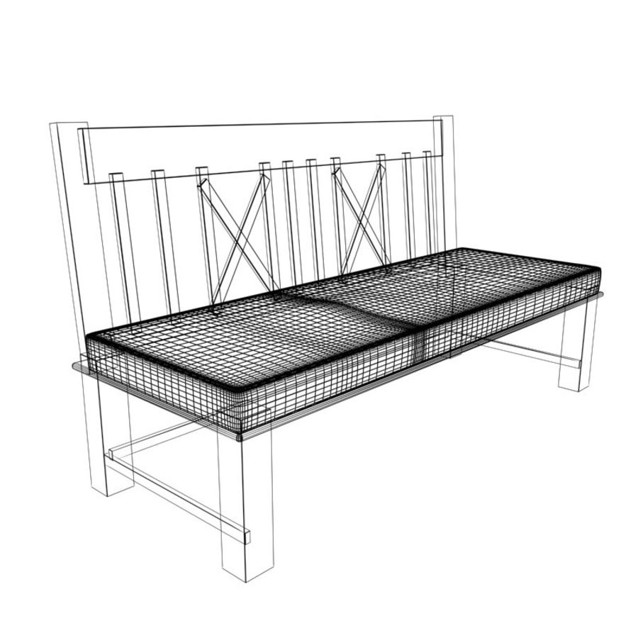 Garden Bench royalty-free 3d model - Preview no. 5