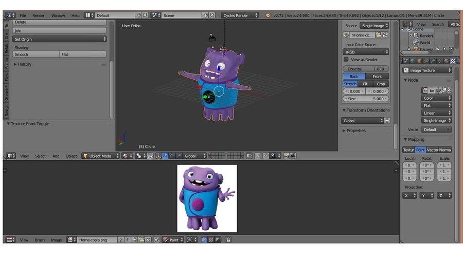 Boov nach Hause royalty-free 3d model - Preview no. 4