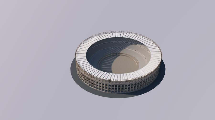 Colosseum royalty-free 3d model - Preview no. 2