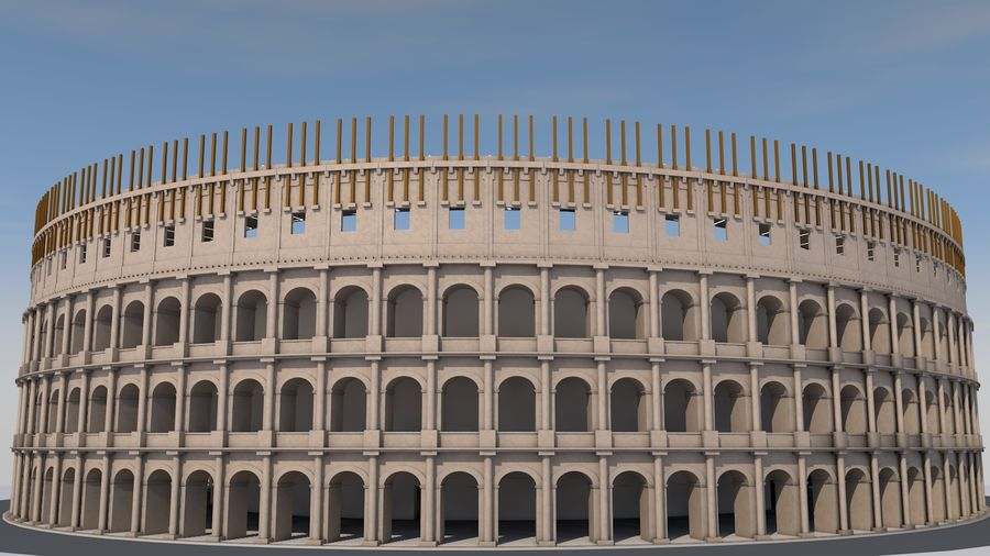 Colosseum royalty-free 3d model - Preview no. 3