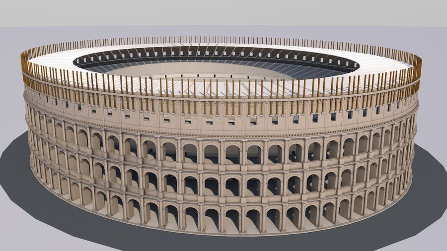 Colosseum royalty-free 3d model - Preview no. 1