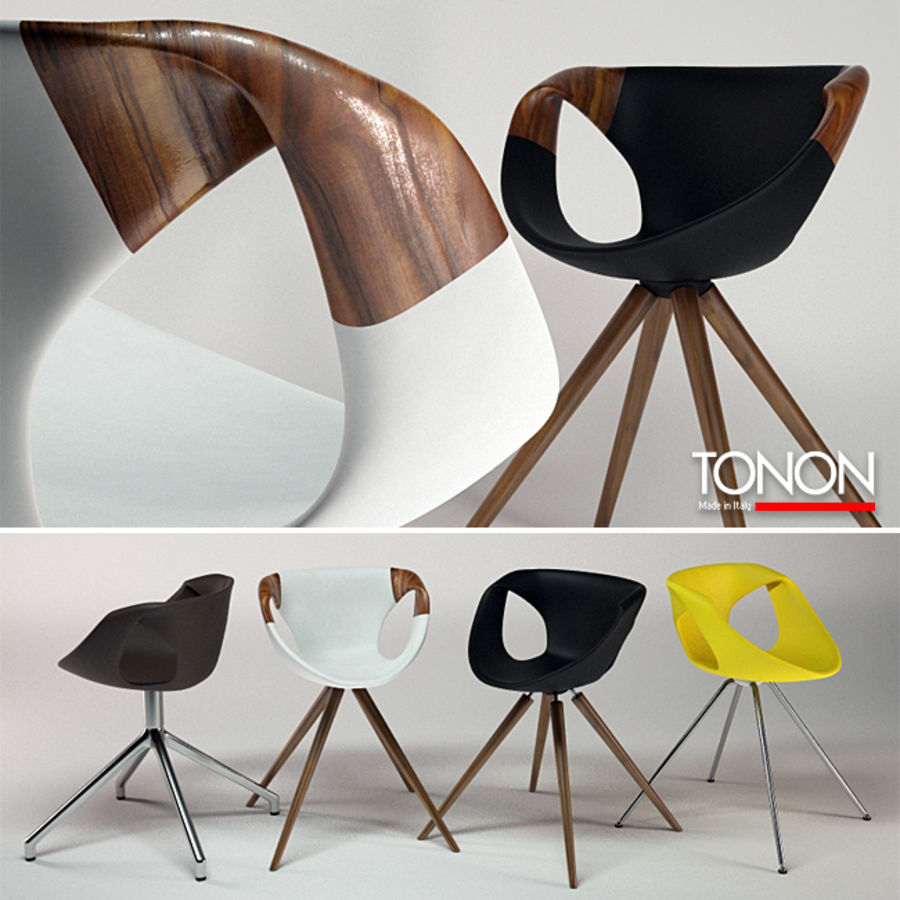Tonon Up Chair 907 royalty-free 3d model - Preview no. 1