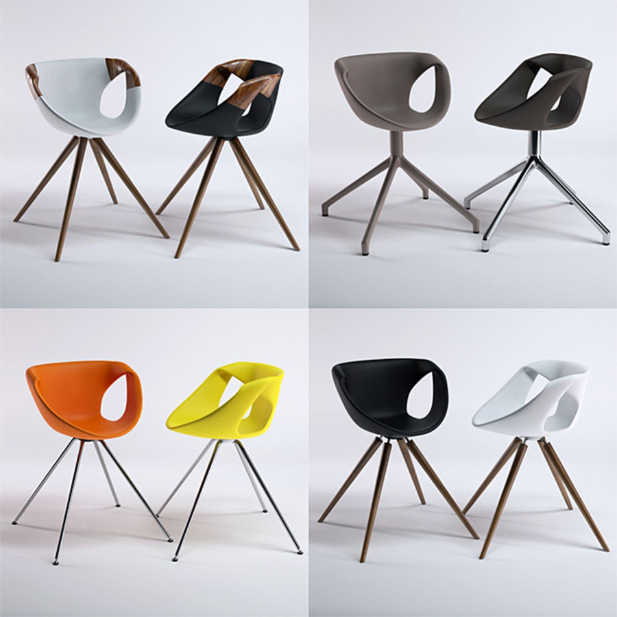 Tonon Up Chair 907 royalty-free 3d model - Preview no. 3