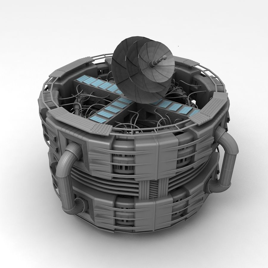 Space Station royalty-free 3d model - Preview no. 2