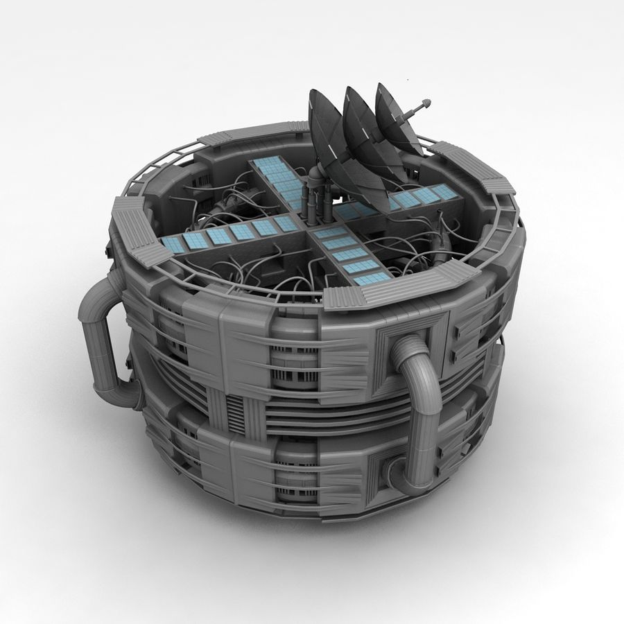 Space Station royalty-free 3d model - Preview no. 1