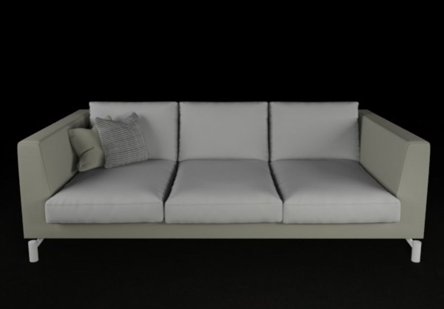 Sofá mínimo moderno de alta qualidade royalty-free 3d model - Preview no. 2