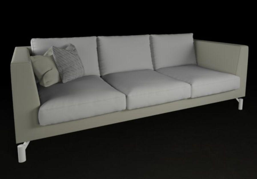 Sofá mínimo moderno de alta qualidade royalty-free 3d model - Preview no. 1