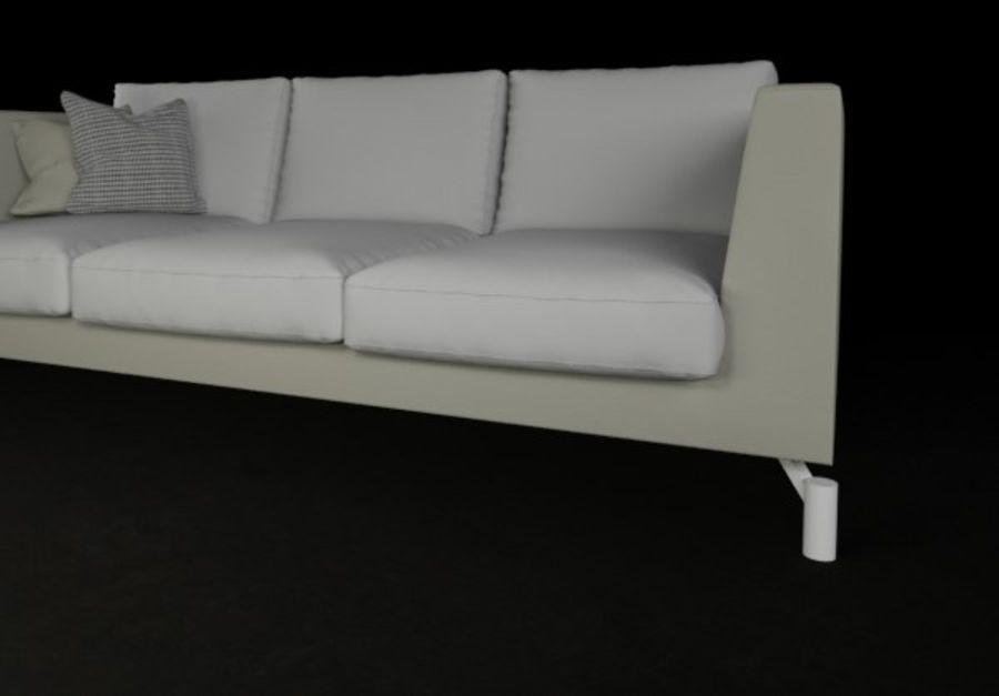 Sofá mínimo moderno de alta qualidade royalty-free 3d model - Preview no. 4