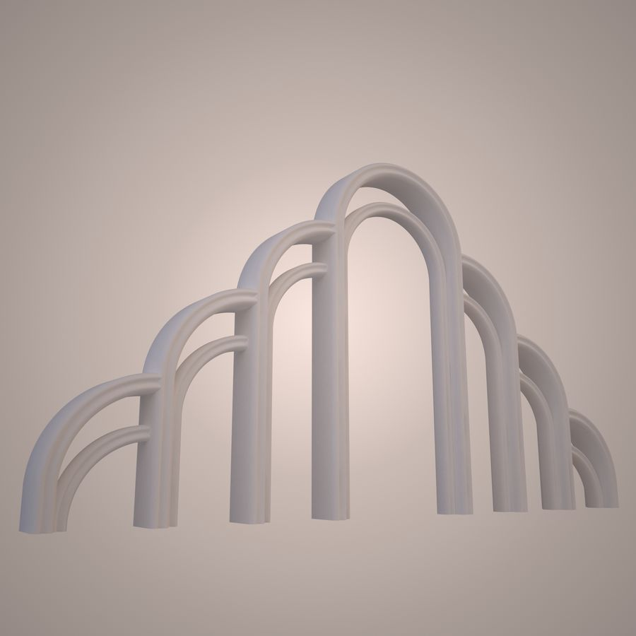 Graceful arch royalty-free 3d model - Preview no. 3