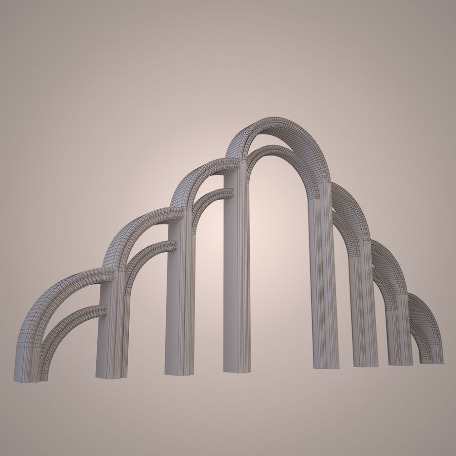 Graceful arch royalty-free 3d model - Preview no. 2