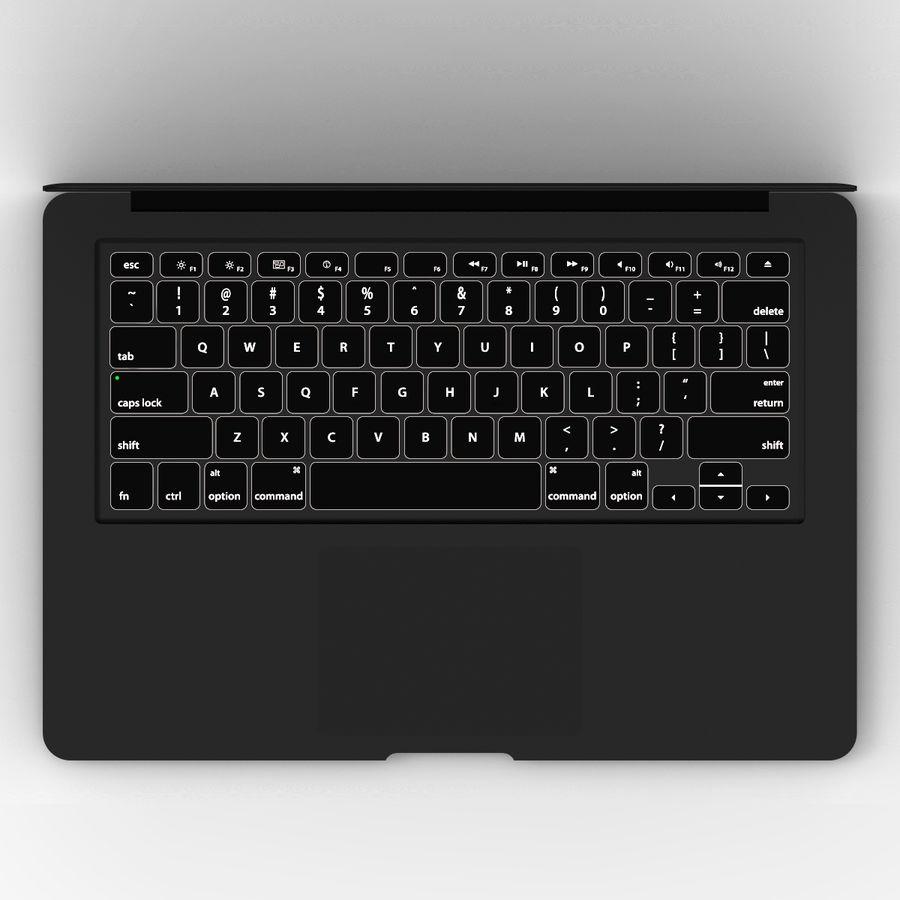 Macbook Air 13英寸 royalty-free 3d model - Preview no. 2