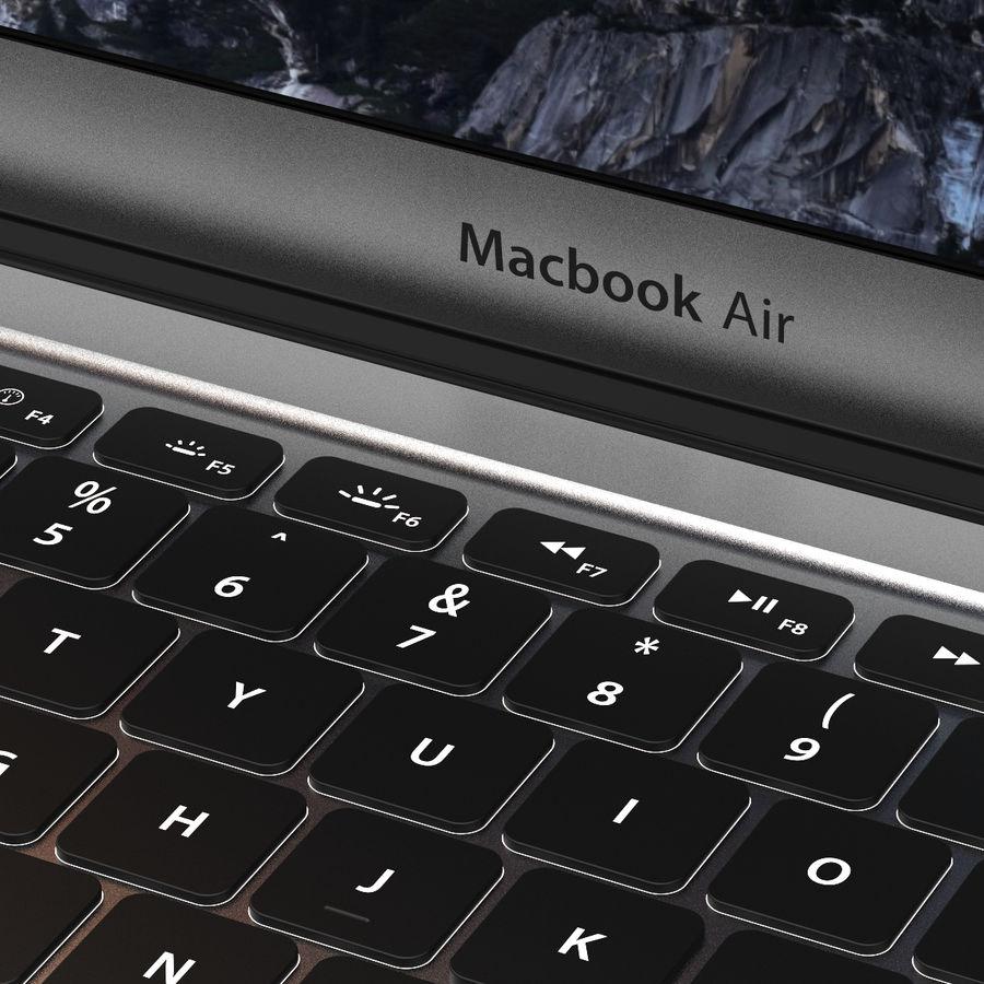 Macbook Air 13英寸 royalty-free 3d model - Preview no. 4
