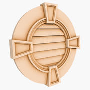 Round Louver 3 - 32 inch 3d model