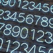 neon numbers alphabet 3d model