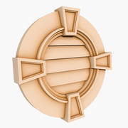 Round Louver 3 - 24 inch 3d model