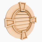 Round Louver 3 - 30 inch 3d model