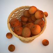 Basket of Mandarins 3d model