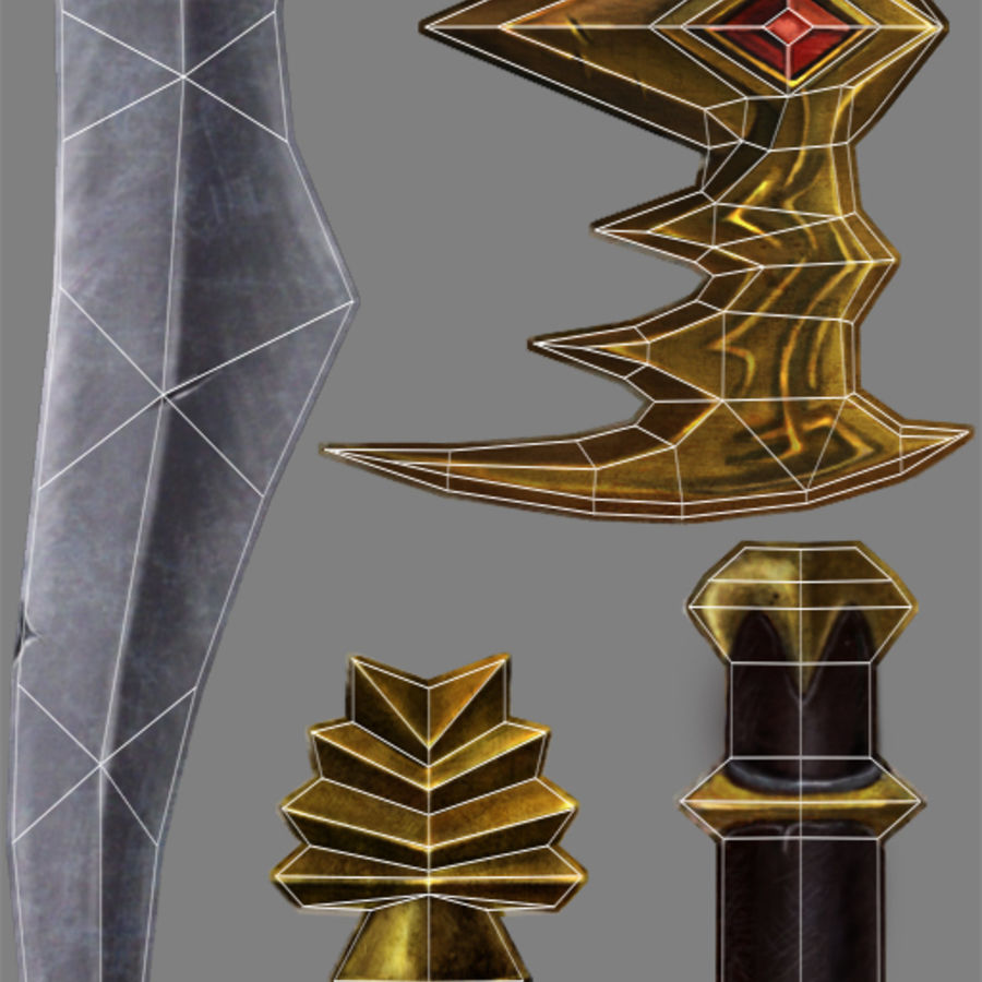 dagger royalty-free 3d model - Preview no. 3
