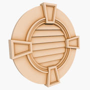 Round Louver 3 - 36 inch 3d model