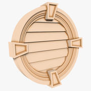 Round Louver 2 - 24 inch 3d model