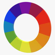 Color Wheel 3d model