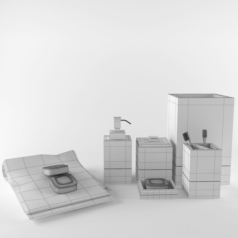Set da bagno royalty-free 3d model - Preview no. 7