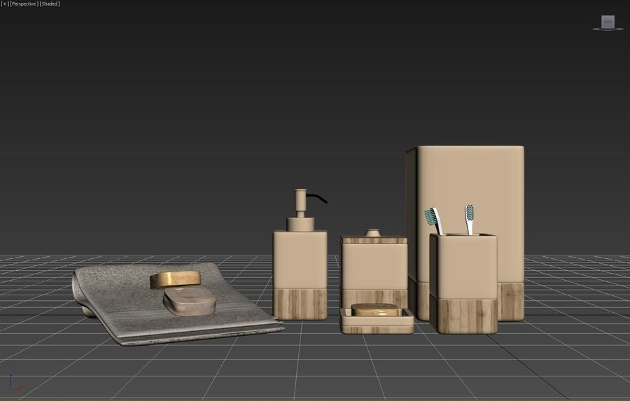 Set da bagno royalty-free 3d model - Preview no. 6