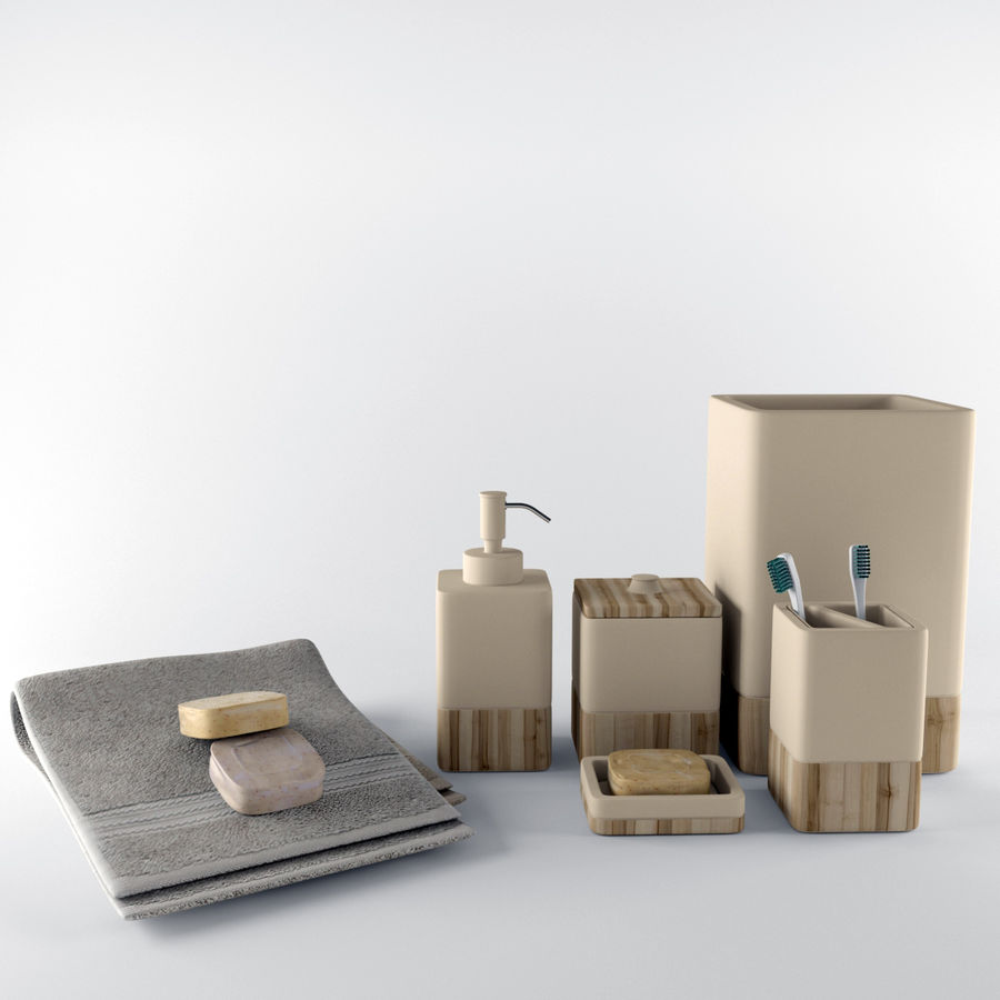 Set da bagno royalty-free 3d model - Preview no. 2