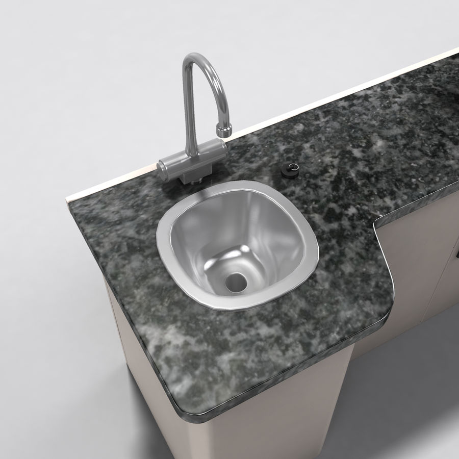 Medical Sink Cabinet royalty-free 3d model - Preview no. 11