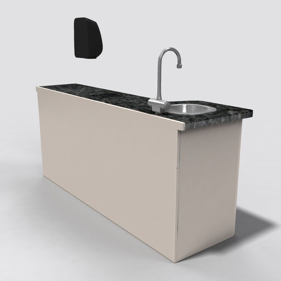 Medical Sink Cabinet royalty-free 3d model - Preview no. 6