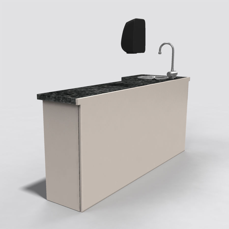 Medical Sink Cabinet royalty-free 3d model - Preview no. 5