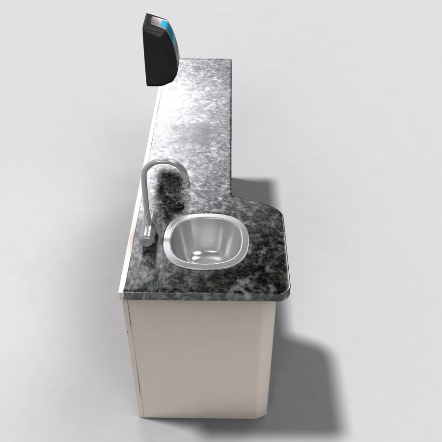 Medical Sink Cabinet royalty-free 3d model - Preview no. 7