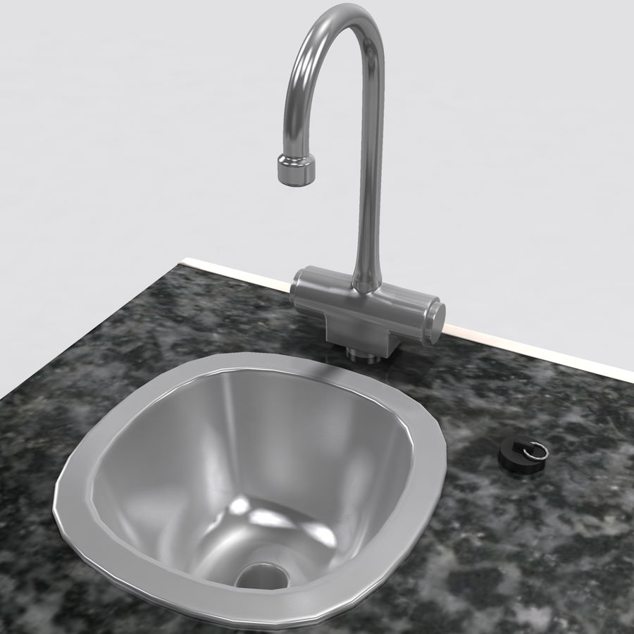 Medical Sink Cabinet royalty-free 3d model - Preview no. 12