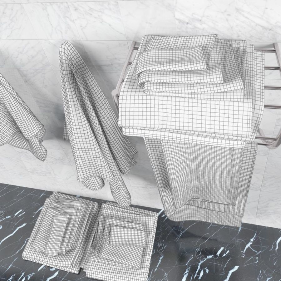 Towels royalty-free 3d model - Preview no. 9