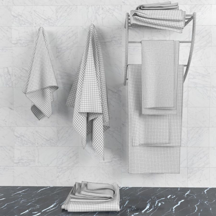 Towels royalty-free 3d model - Preview no. 8
